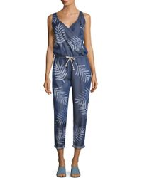 Sol Angeles - Print Denim Jumpsuit - Lyst