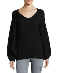 Ella Moss | Knit Pleated Sweater | Lyst