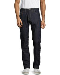 Shockoe Atelier - Textured Cotton Denim Pants - Lyst