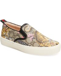 Gucci - Bengal Canvas Slip-on Trainer - Lyst
