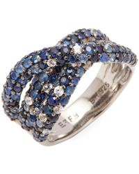 Effy | Sterling Silver & Sapphire Stack Ring | Lyst