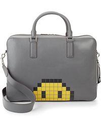 Anya Hindmarch | Walton Pixel Smiley Briefcase | Lyst