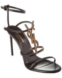 Saint Laurent - Cassandra 95 Leather Sandal - Lyst