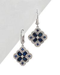 Diana M. Jewels - . Fine Jewelry 14k 2.85 Ct. Tw. Diamond & Blue Sapphire Drop Earrings - Lyst