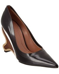 Marni - Wooden Leather Pump - Lyst