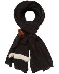 "Donni Charm - Donni Parallel Wool Long Scarf, 120"" X 30"" - Lyst"