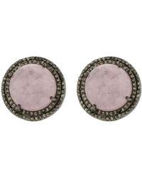 Adornia - Fine Jewellery Silver Morganite Studs - Lyst