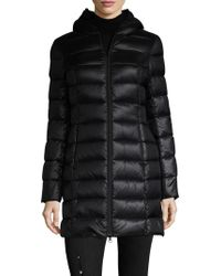 SOIA & KYO - Quilted Front Zip Coat - Lyst