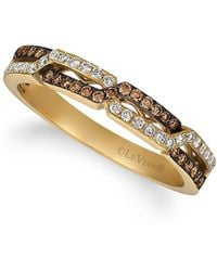 Le Vian - 14k Honey Gold, Vanilla Diamond & Chocolate Diamond Ring - Lyst