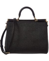 Dolce & Gabbana - Sicily Leather Tote - Lyst