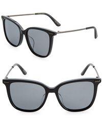 Bottega Veneta - 53mm Wayfarer Sunglasses - Lyst