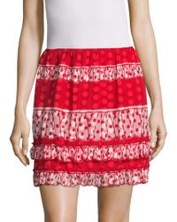 Anna Sui - Spring Dot Gathered Flare Skirt - Lyst