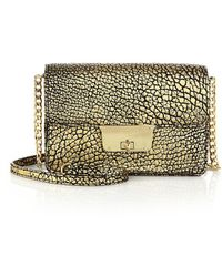 MILLY - Astor Metallic Crossbody Mini - Lyst