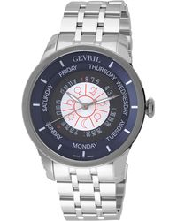 Gevril Watches - Gevril Columbus Circle Stainless Steel Watch, 45mm - Lyst