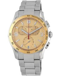 Victorinox - Stainless Steel Chronograph Water-resistant Bracelet Watch - Lyst