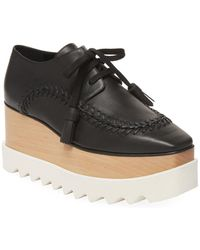 Stella McCartney - Elyse Baseball Stitch Platform Oxford - Lyst