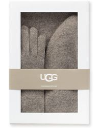UGG - Three-piece Cashmere Beanie, Scarf And Gloves Gift Set - Lyst