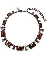 Oscar de la Renta - Large Octagon Crystal Necklace - Lyst