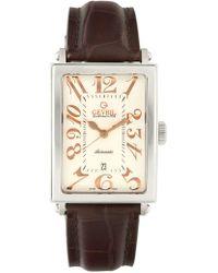 Gevril Watches - Men's Avenue Of Americas Steel & Brown Watch - Lyst