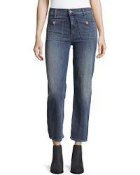 Mother - Patch Pocket Maverick Jeans - Lyst