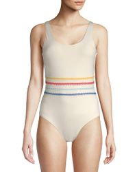 Dolce Vita - One-piece Multicolored Stitched Swimsuit - Lyst