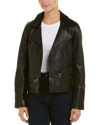 Michael Stars - Convertible Leather Moto Jacket - Lyst