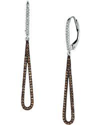 Le Vian - Chocolatier Vanilla Diamonds, Chocolate Diamonds And 14k Vanilla Gold Drop Earrings - Lyst