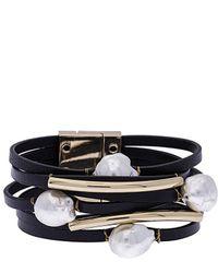 Saachi - Achai Plated Pearl Bracelet - Lyst