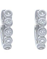 Nephora - 14k 0.15 Ct. Tw. Diamond Plain Huggie Hoops - Lyst