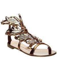Giuseppe Zanotti Winged Leather Sandal