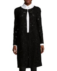 Oscar de la Renta - Needlework Long Coat - Lyst