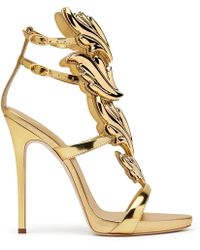Giuseppe Zanotti - Cruel Mirrored Leather Sandals  - Lyst