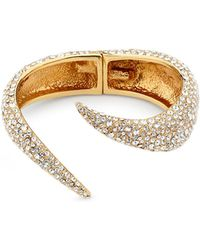 Giuseppe Zanotti Gold brass bracelet with crystals NAUSICA