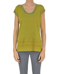 Seventy - Women's Green Linen Sweater - Lyst