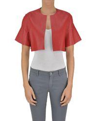Pinko - Erice Eco-leather Cropped Jacket - Lyst