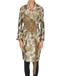 Bazar Deluxe - Fringed Brocade Fabric Coat - Lyst