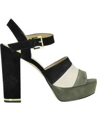 MICHAEL Michael Kors - Anise Striped Suede Sandals - Lyst