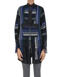 Sacai - Textured Cloth Coat - Lyst