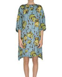 Antonio Marras - Printed Silk Tunic Dress - Lyst