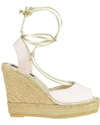 Patrizia Pepe - Rope Wedge Sandals - Lyst
