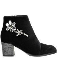 Alberto Gozzi - Embellished Velvet Ankle-boots - Lyst