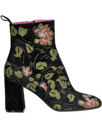Maliparmi - Embroidered Suede Ankle Boots - Lyst
