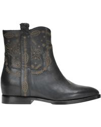 Ash - Women's Mcglcas000004067i Black Leather Ankle Boots - Lyst