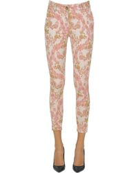 P4-7 - Jacquard Cloth Trousers - Lyst