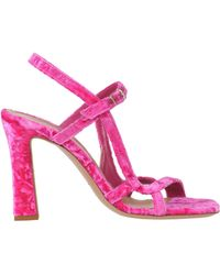96cced1bdd92 Lyst - Dries Van Noten Sculptural Heel Knotted Floral Jacquard Sandals