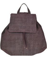 Orciani - Tweed Effect Leather Backpack - Lyst