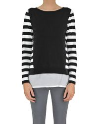 Seventy - Striped Cotton Pullover - Lyst