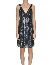 Pinko - Sequinded Slip Dress - Lyst