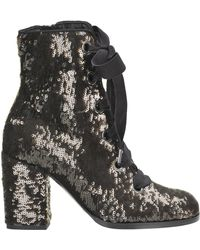 Alberto Gozzi - Sequined Lace-up Boots - Lyst