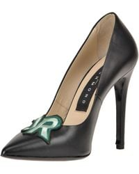 John Richmond - Embellished Leather Pumps - Lyst